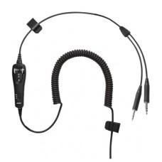 Bose A20® Cable enrrollado para  Dual GA enrrollado con micrófono electrec sin Bluetooth