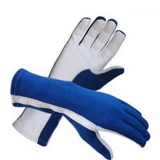 Guantes de Vuelo Nomex azul real/blanco