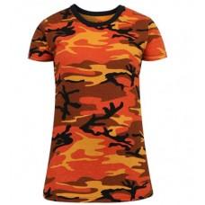 Camiseta larga Rothco camuflaje Naranja