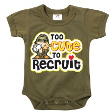 Rothco Pañalero para bebe Too Cute to Recruit