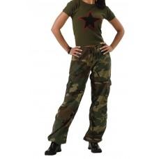 Rothco Pantalon camuflajeado vintage para mujer