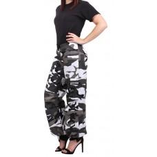 Rothco Pantalon paracaidista camuflajeado colorido para mujer