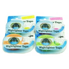 Chart Highlighter Tape - Yellow/Pink/Blue/Green/Orange
