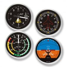 Trintec Juego de 4 Portavasos Redondos de Instrumentos Cessna
