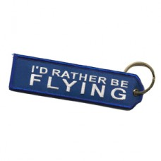 "Embroidered Blue ""I'd Rather Be Flying"""