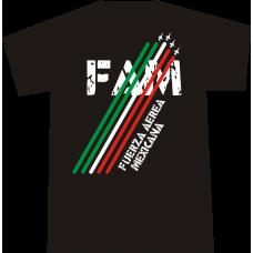 """Camiseta """"Fuerza Aérea Mexicana"""" Negra Hombre"""