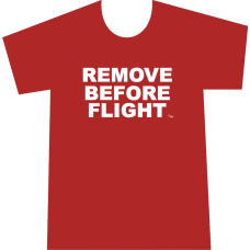 "Camiseta ""Remove Before Flight"" Hombre"
