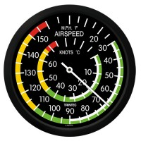 """Trintec 10"""" Airspeed Instrument Style Thermometer 9061-10"""