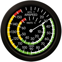"Trintec 14"" Classic Airspeed Thermometer 9061-14"