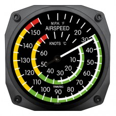 "Trintec 6"" Airspeed Instrument Style Thermometer 9061-6"