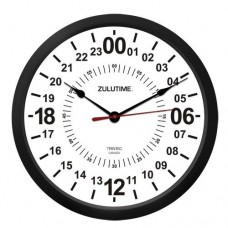 "Trintec 10"" Zulu Time 24 HR Wall Clock"